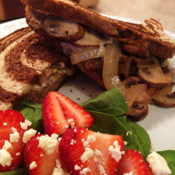 Eat Fit Not Fat- Grilled Swiss and Mushroom Patty Melt