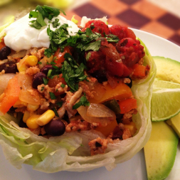 Eat Fit Not Fat- Turkey Taco Lettuce Bowls