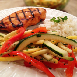 Eat Fit Not Fat- Summer Thai Salad with Zucchini and Yellow Squash