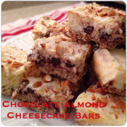 Eat Fit Not Fat- Chocolate Almond Cheesecake Bars