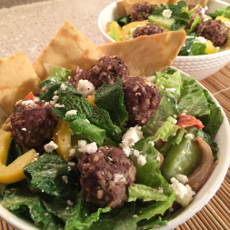 Eat Fit Not Fat- Greek Meatball Salad